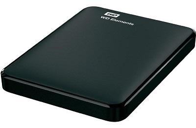 Dysk zewnętrzny WD 2TB format 3,5 cala czarna obudowa z interfejsem USB 3.0