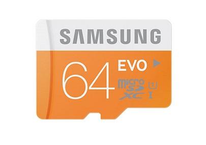 Karta microSDXC 64GB marki Samsung.