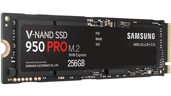 dysk ssd M.2 Samsung 950 PRO Nvme o pojemności 256 GB